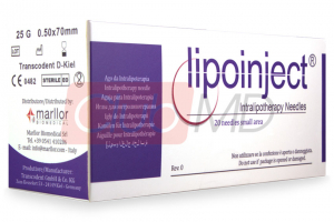 LIPOINJECT® SMALL AREA 25G/70mm 20 needles